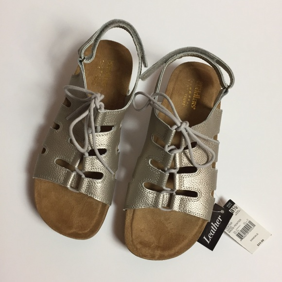 11484bf8add6 Cobbie Cuddlers 8.5 Maizie Pewter Comfort Sandals